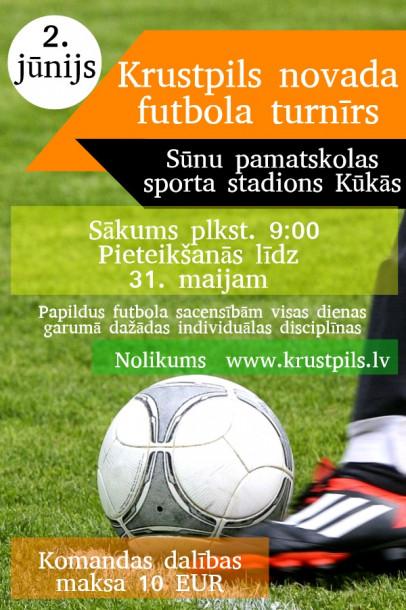 Krustpils novada futbola turnīrs Kūkās