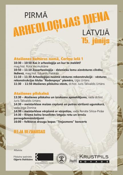 Pirmā arheoloģijas diena Latvijā 15.jūnijā