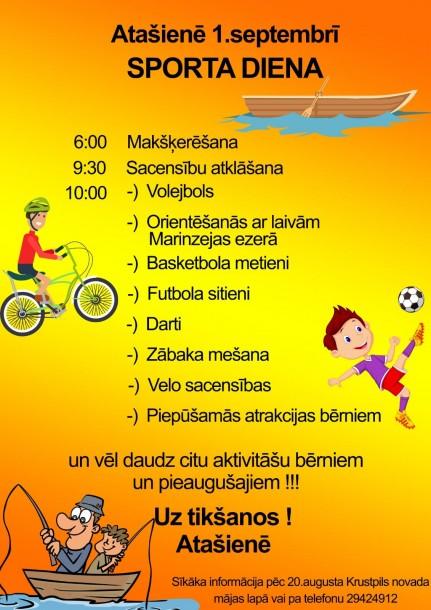 Sporta diena Atašienē