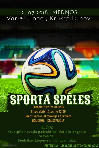 Sporta spēles Variešu pagastā 21.jūlijā