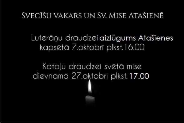 Sv.Mise un svecīšu vakari Atašienes pagastā