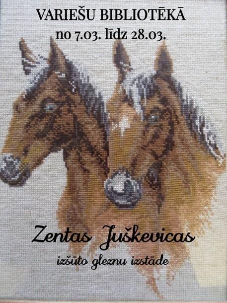 Zentas Juškevicas izšūto gleznu izstāde