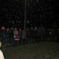 Ziemassvētku egles iedegšana Mežārē
