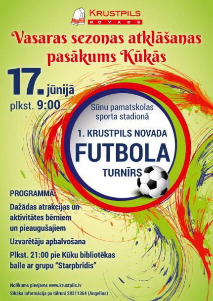 17.jūnijā - Krustpils novada futbola turnīrs