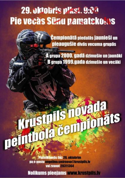 29. oktobrī Krustpils novada peintbola čempionāts