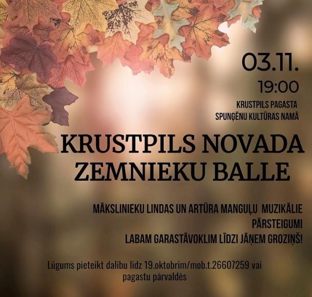 Krustpils novada zemnieku balle 3.novembrī