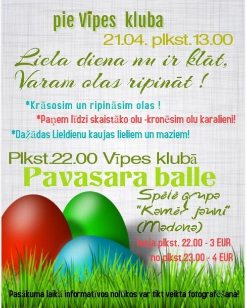 Svinēsim Lieldienas Vīpē!