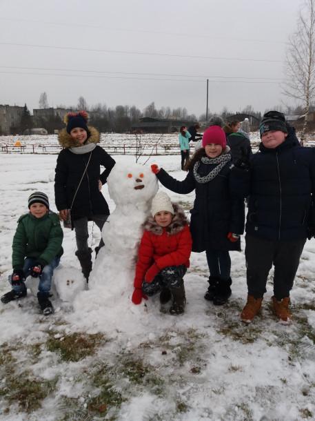 Sniega diena Mežāres pamatskolā