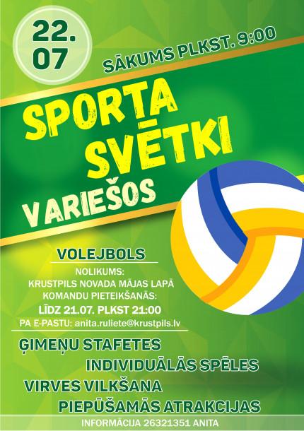 Sporta svētki Variešos!