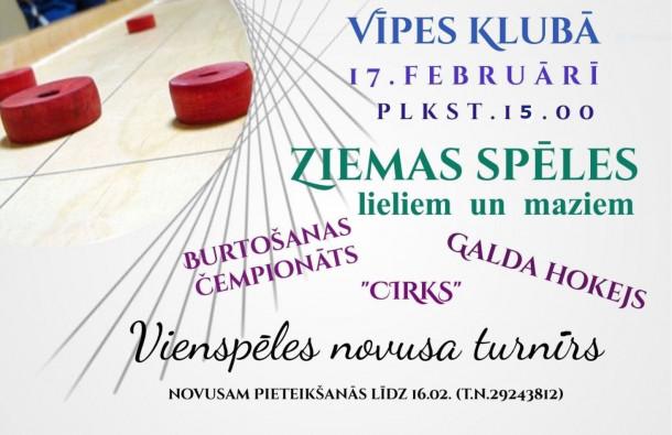 Ziemas spēles Vīpes pagastā 17.februārī