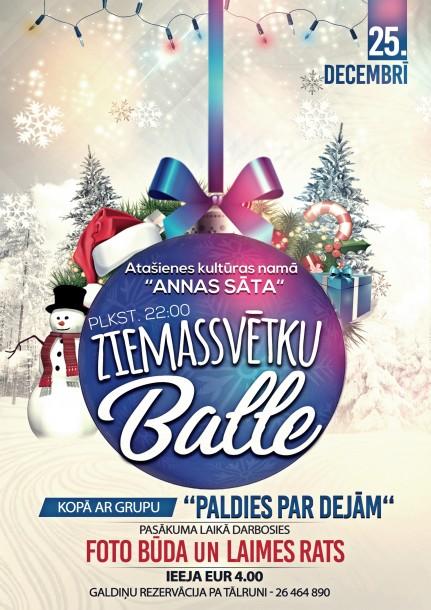 Ziemassvētku balle Atašienes kultūras namā