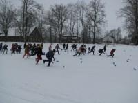 Sniega prieki Krustpils pamatskolā
