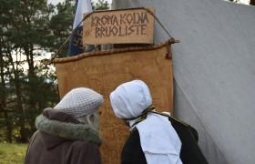 """Projekta """"Caur vēstures prizmu- uz 11.gadsimtu"""" ietvaros Asotes pilskalnā atklāts stends"""