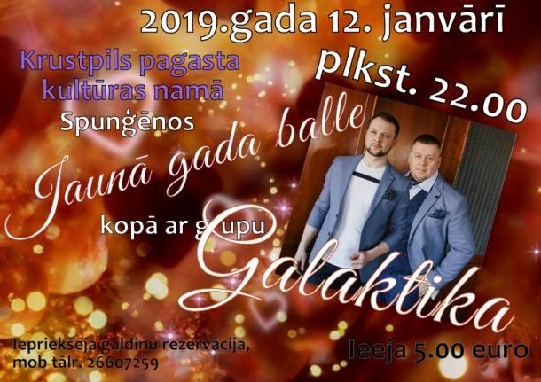 Jaunā gada balle Spunģēnos 12.janvārī