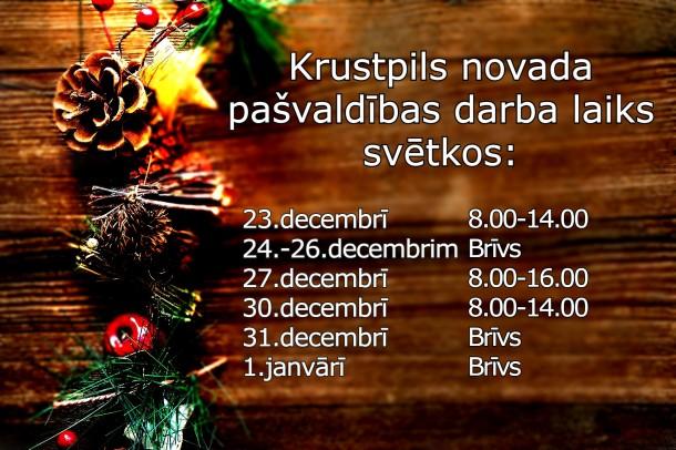 Krustpils novada pašvaldības darba laiks svētkos