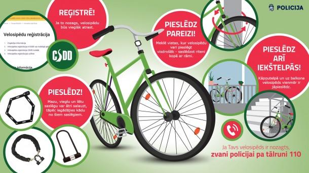 Valsts policija aicina reģistrēt savu velosipēdu