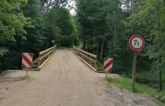 Atjaunots tilts pār Neretas upi