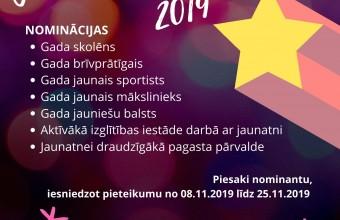 """Izsludināts konkurss """"Jaunatnes Gada balva 2019″"""
